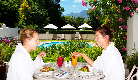 Spa holiday package weekend at Erinvale Estate in Cape Town.